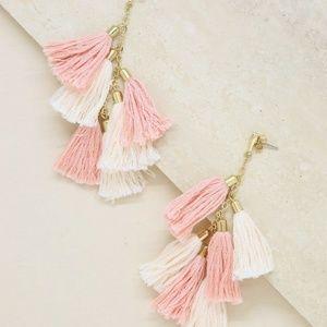 Daydreamer Tassel Earrings in Peach and Gold
